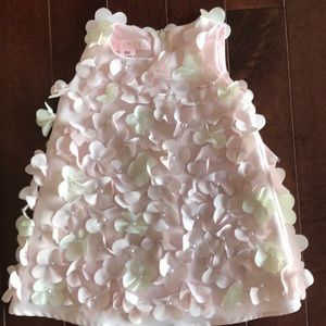 Biscotti dress with flowers and pearls